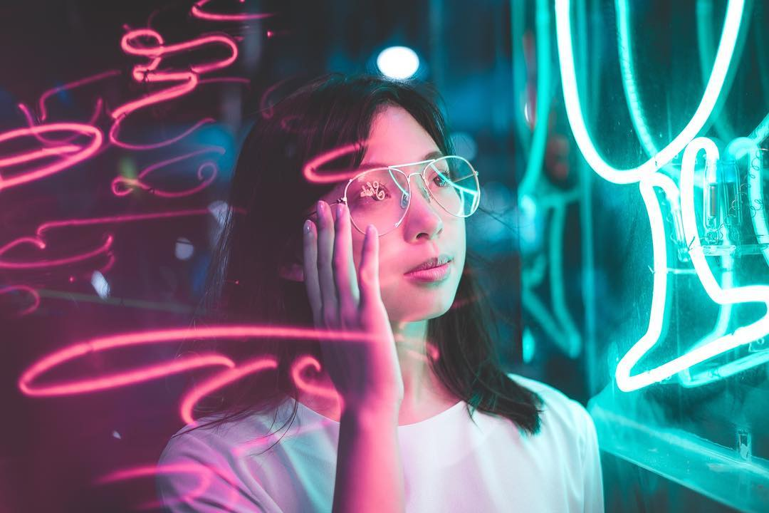 Neon Light Portrait On Behance: How To Shoot Neon Portraits By Gab Loste